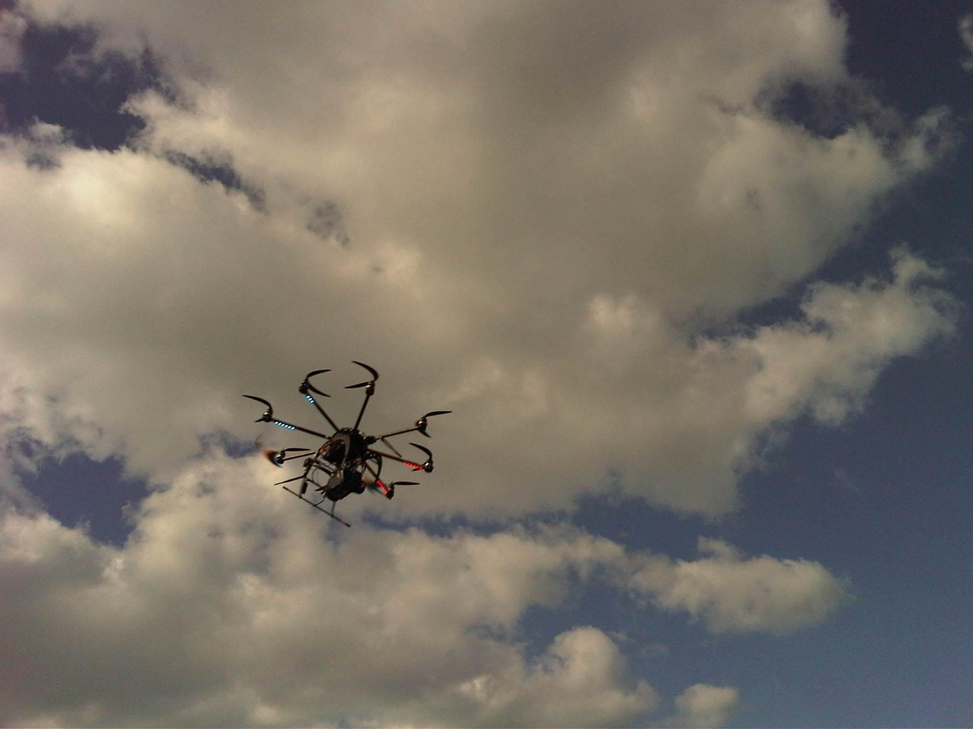 Drone aerial filming in Israel