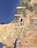 map of stock aerial footage of Israel